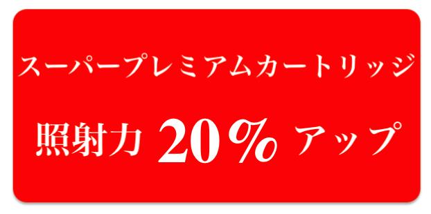 家庭用脱毛器ケノンは照射力が20%アップ