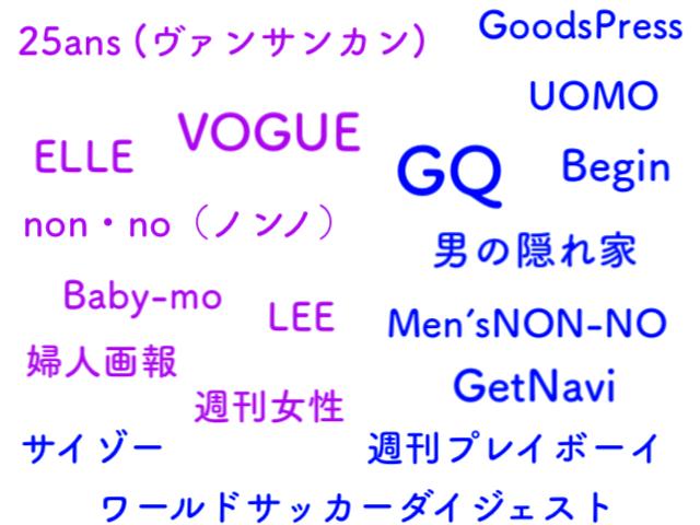U-NEX雑誌の種類